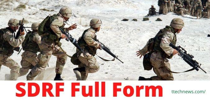 SDRF Full Form